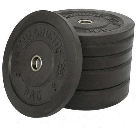 Diamond Pro - Crumb Bumper Plate Set, 160 lbs
