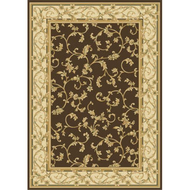 Central Oriental 2034BW8D 7. 83 ft.  Transitional Radiance Felix Rug - Brown-Wheat