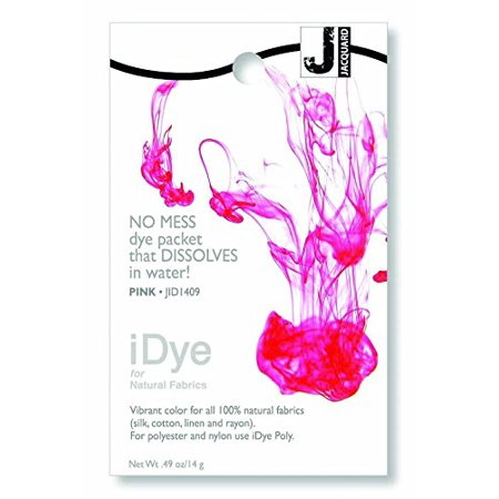 iDye Fabric Dye 14 Grams-Pink, For use on 100% natural fabrics By Jacquard From (Best Dye For 100 Polyester)