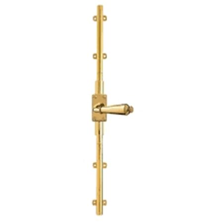 Baldwin 8105031R8LK Right Handed Cremone Bolt For 8 ft. Doors - Non-Lacquered