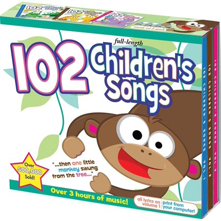 102 Children's Songs 3 CD Set, By Twin Sisters Format Audio CD from (Twin Disc)
