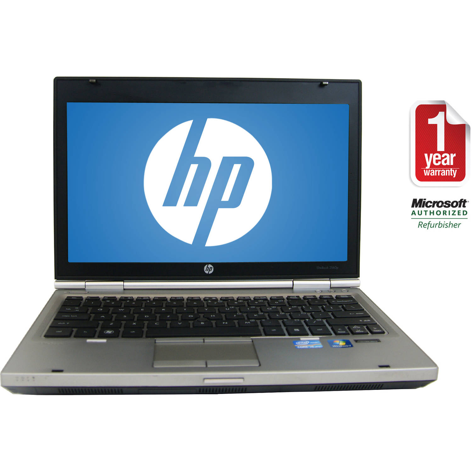 "Refurbished HP Black 12.5"" 2560P Laptop PC with Intel Core i3-2310M Processor, 4GB Memory, 320GB Hard Drive and Windows 7 Home Premium"