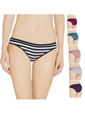 Product Image Nabtos Women s Cotton Underwear Sexy Bikini Stripes Panties  Pack of ... 5981f25c1