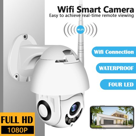 New Wireless Surveillance NetCam Onvif WiFi 2MP HD 1080P Speed Dome CCTV IR Camera Outdoor Security IP Camera Exterior TF Card + 64G TF