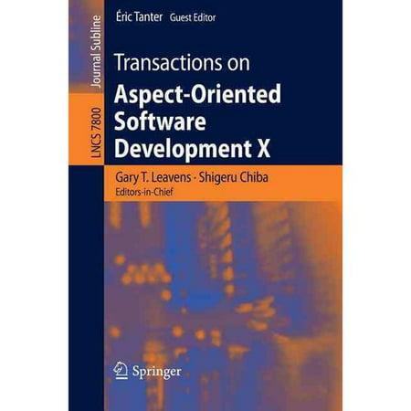 Transactions On Aspect Oriented Software Development X