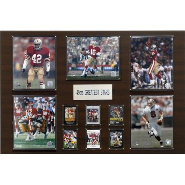 C & I Collectables 243649ERS NFL San Francisco 49ers Greatest Stars Plaque