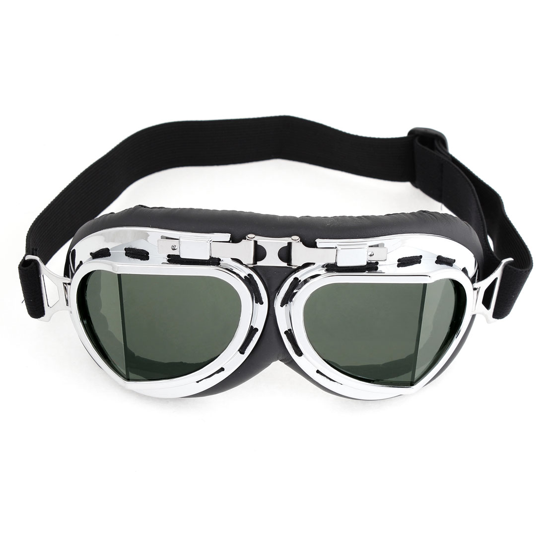 Unique Bargains Silver Tone Plastic Rimmed Wide Angle Ski Snowboard Goggles for Men Women by Unique-Bargains