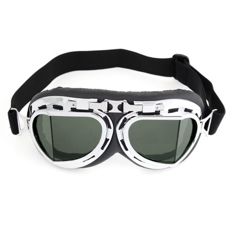 Unique Bargains Silver Tone Plastic Rimmed Wide Angle Ski Snowboard Goggles for Men Women