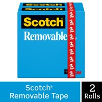 Scotch Removable Magic Tape Refill Rolls, 2 Count