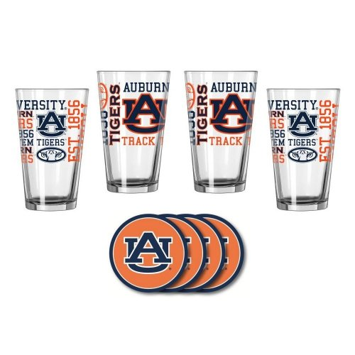 Auburn Tigers Spirit Glassware Gift Set
