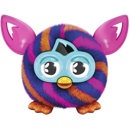 Furby Furbling Creature, Orange and Blue Diagonal Stripes