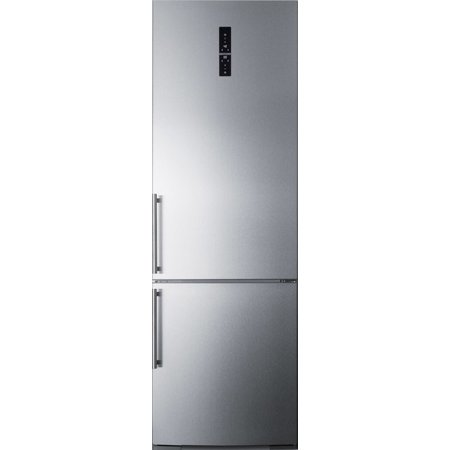 Ffbf249ssim 24 Bottom Freezer Refrigerator With 11 6 Cu  Ft  Capacity  Ice Maker  Digital Thermostat  A Wine Rack  Zerozone Deli Drawer And High Temperature Alarm  In Stainless Steel