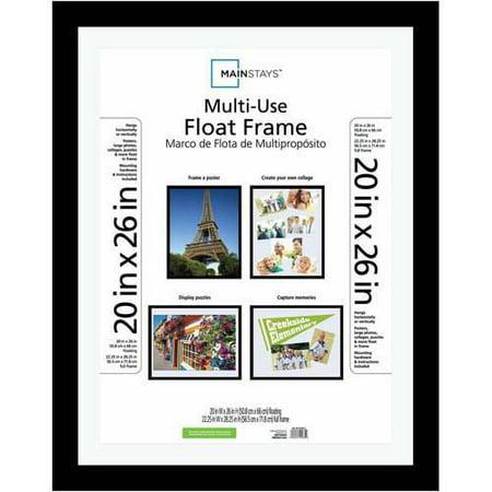 Mainstays Ms 20x26 Black Float Poster Frame