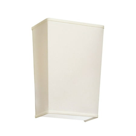 Dainolite 1 Light Wall Sconce Cream - Satin Chrome
