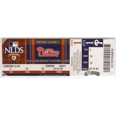 Philadelphia Phillies 2010 Nlds Game 1 Mega Ticket