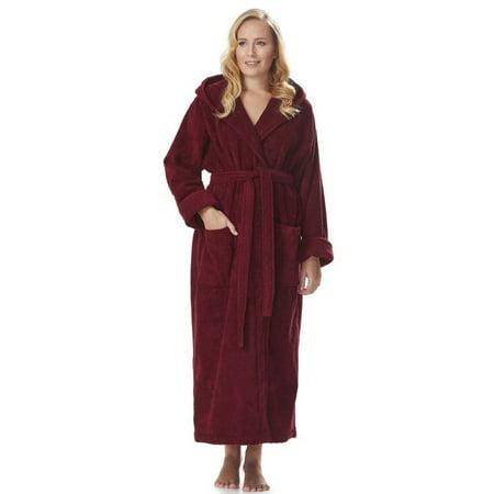 ba72b42072 Arus - Arus Women s Organic Cotton Hooded Full Length Turkish Bathrobe -  Walmart.com