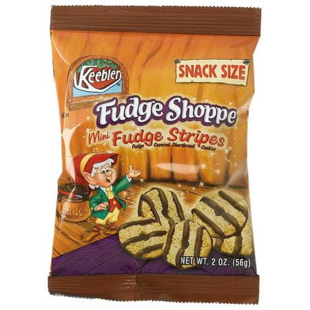 Fudge Bites - 60 pack: Fudge Shoppe Fudge Stripe Mini Right Bites Grab 'N Go Snacks, 2.33-Ounce Packages