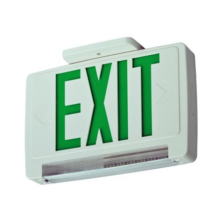 Lithonia Lighting ECBR LED M6 Red LED Ceiling Mount Integrated Exit Sign / Emerg