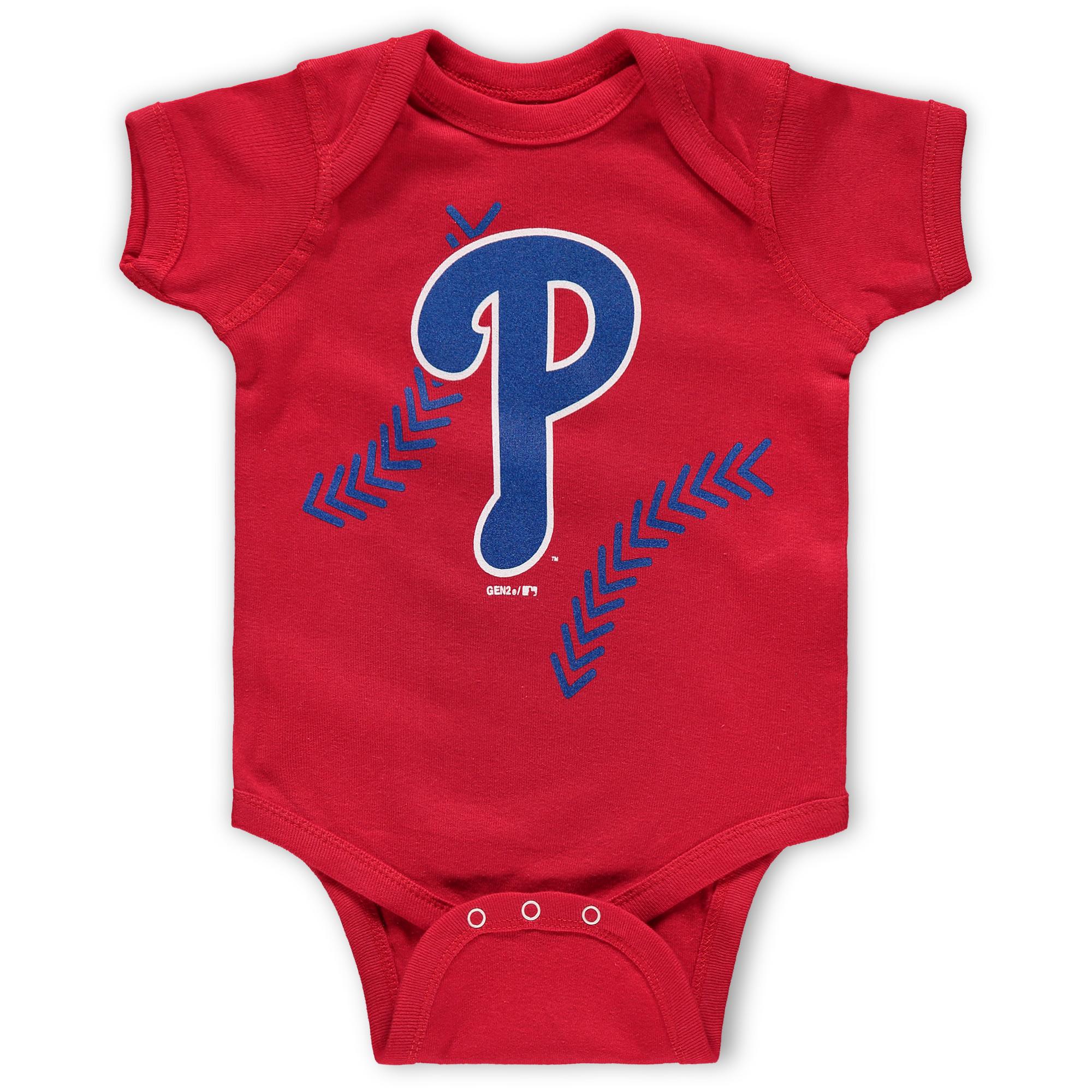 Philadelphia Phillies Newborn & Infant Running Home Bodysuit - Red