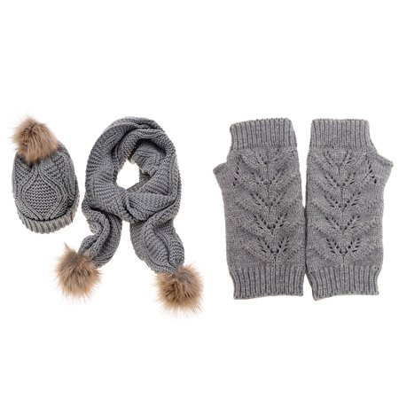 Hot Women's Autumn Winter Brand New Knitted Hat Glove And Scarf Set (Best Winter Glove Brands)
