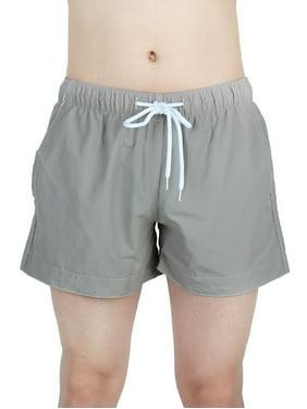 Chetstyle Authorized Men Polyester Fiber Breathable Swim Trunk Gray W30