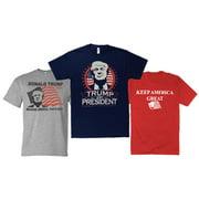 Encore President Trump T-Shirt 3 Pack Keep America Great 2020 Three Shirt Bundle S