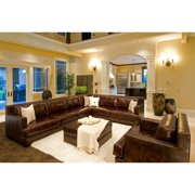 5-Pc Upholstered Sectional Set in Saddle
