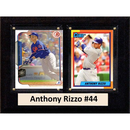 C&I Collectables MLB 6x8 Anthony Rizzo Chicago Cubs 2-Card Plaque](Cuba Sign)