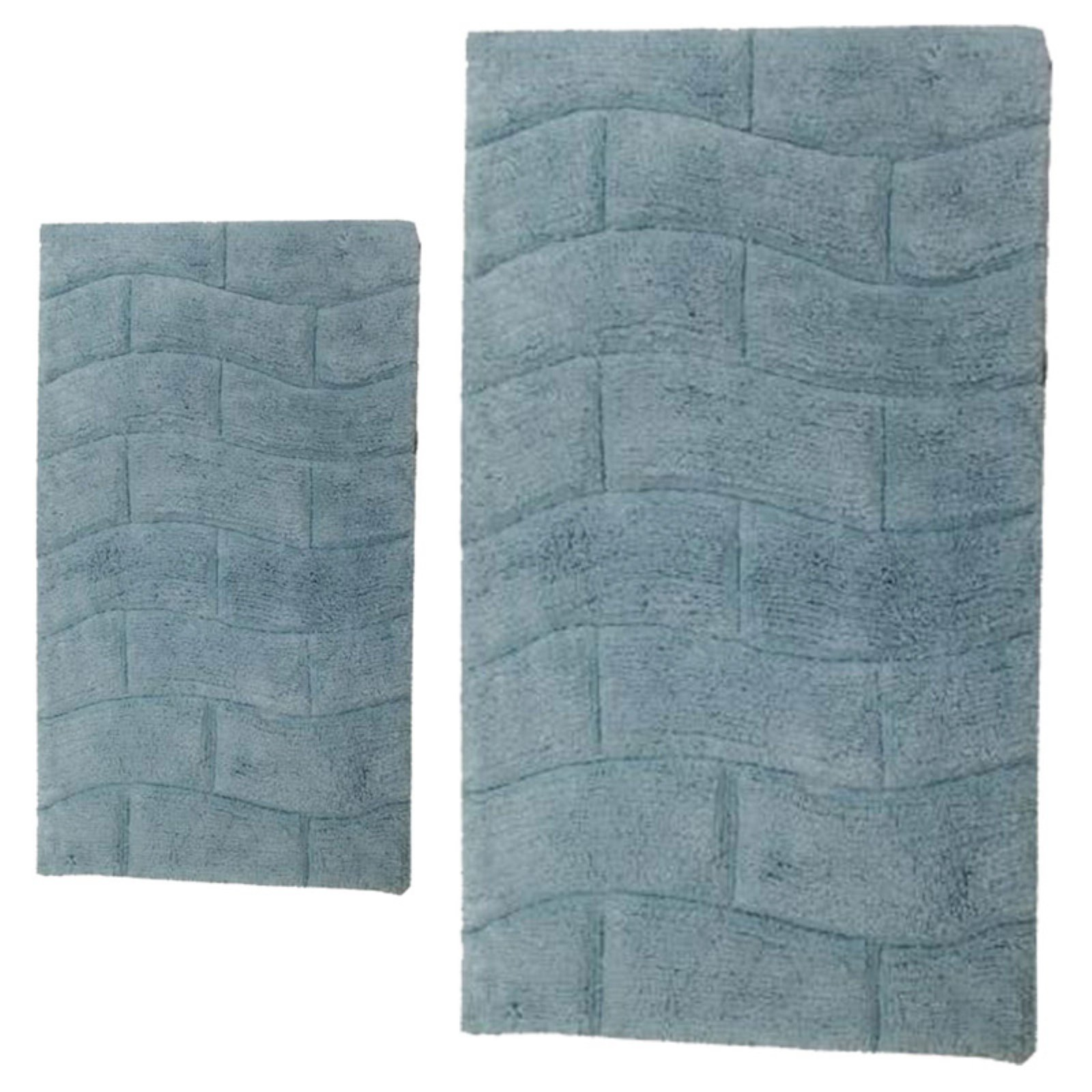 Elegance Collection New Tile Bath Rug - Set of 2