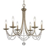 Golden Lighting 7644-6 Mirabella 6 Light Crystal Chandelier