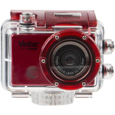 Vivitar 12.1MP WiFi Action Camera HD 1080P, Red