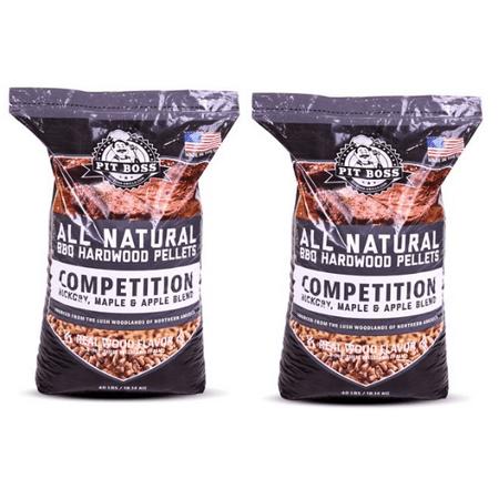 (2 pack) Pit Boss Competition Blend BBQ Pellets - 40 lb Resealable Bag ()