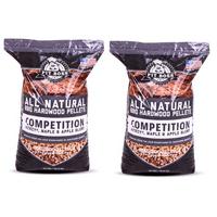 (2 pack) Pit Boss Competition Blend BBQ Pellets - 40 lb Resealable Bag