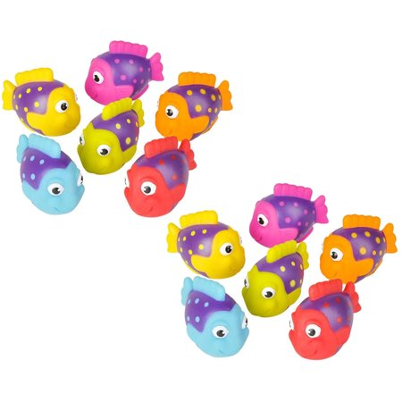 Rhode Island Novelty - Rubber Bath Toys - TROPICAL FISH (1 Dozen)