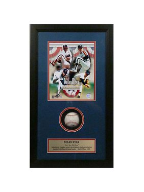 MLB Autographed Shadowbox with Baseball, Nolan Ryan