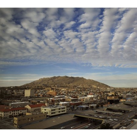 LAMINATED POSTER City Clouds Cities Sky Texas Urban El Paso Poster Print 24 x 36