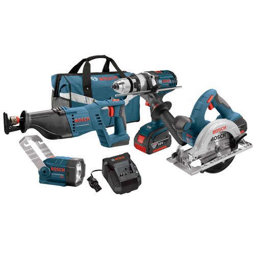 Bosch CLPK402-181 18V 4.0 Ah Cordless Lithium-Ion 4-Tool Combo Kit by Your Other Warehouse