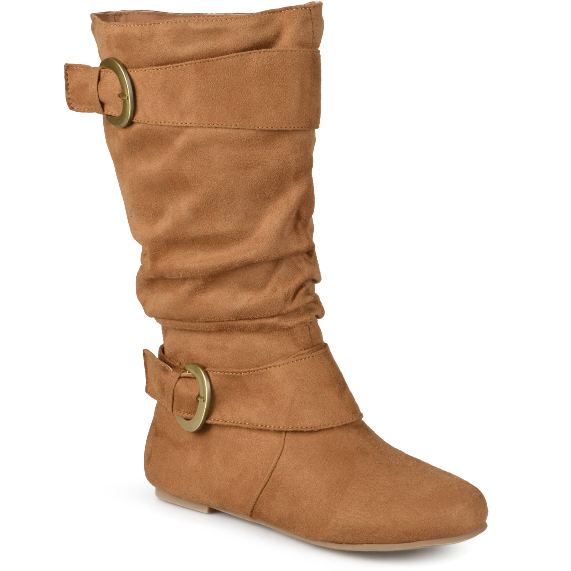 Brinley Co. Women's Perth Slouchy Wide Calf Boots
