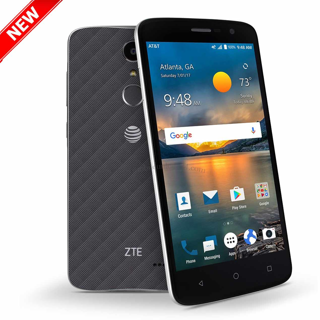 "New Blade Spark 16GB Z971 GSM Unlocked 5.5"" Display 2GB RAM 13MP Camera Phone by ZTE  - Black - USA Warranty"