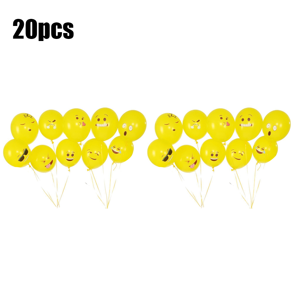 """Birthday Get Well Party Decoration Helium Smiley Face Emoji Foil Balloon 18/"""" NEW"""