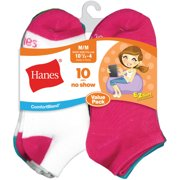 No Show Socks, 10 Pairs Little Girls & Big Girls)