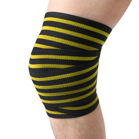 Fitness Knee Wraps Compression Bandage Wraps Joint Pain Relief (E4hats Nylon Wrap)