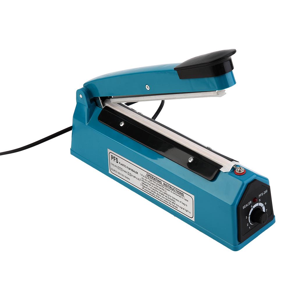 200mm Eco-Friendly Hand Heat Sealing Machine Hand Impulse Sealer Plastic Bag Closer Teflon seal with US Plug