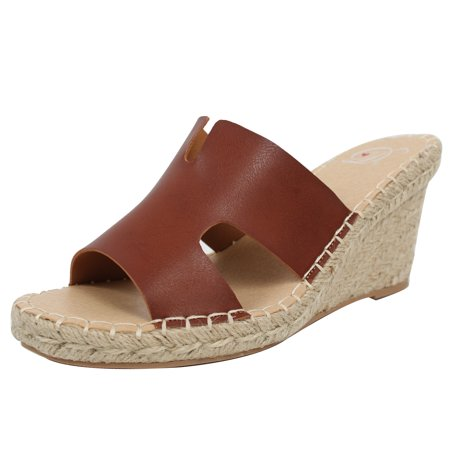 0fa2fd43a15 Delicious - Delicious Women s Open Toe Cutout Espadrille Wedge Slip On (8 B( M) US