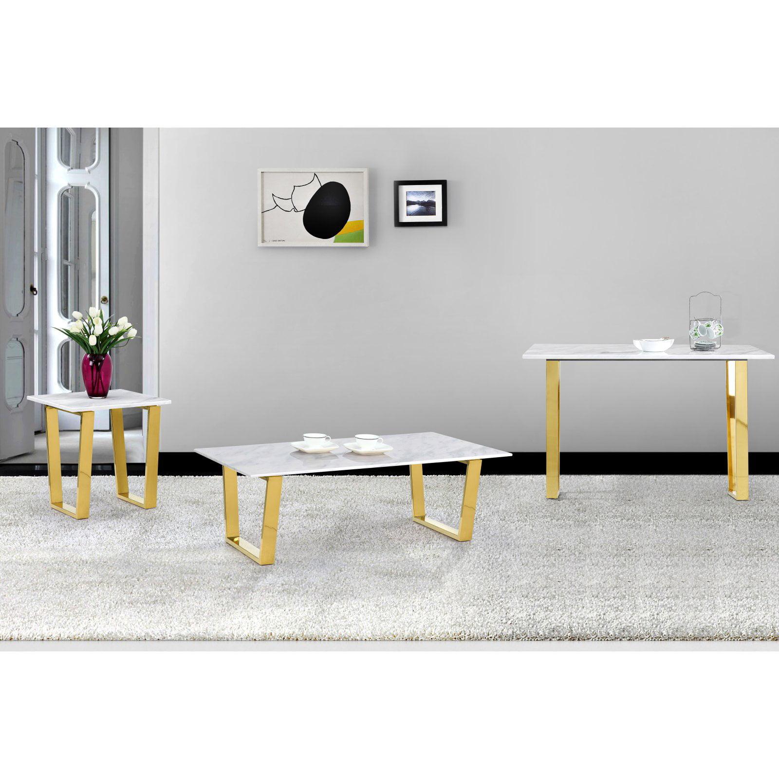 Meridian Furniture Inc Cameron Gold Coffee table