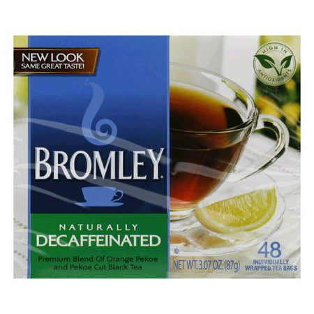 (4 Boxes) Bromley Decaffeinated Tea, Orange Pekoe & Pekoe, 48 Ct