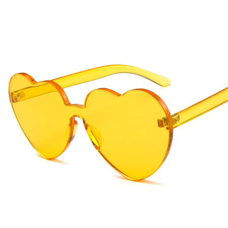Heart-shaped Sunglasses Transparent Jelly Color Love Peach Heart Sun Glasses - image 6 of 6
