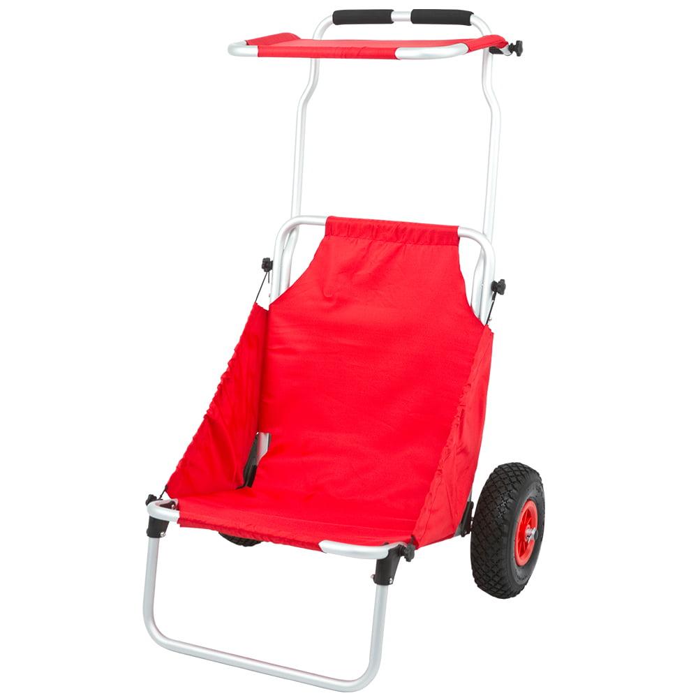 Folding Beach Fishing Chair Dolly Cart