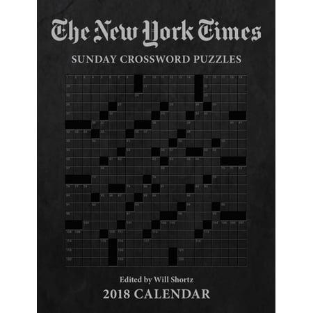 The New York Times Sunday Crosswords 2018 Calendar