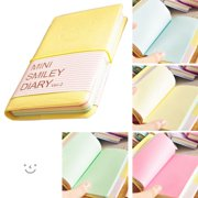 Red Size 75 x 125mm Mini Smiley Diary Smile Surface Notebook